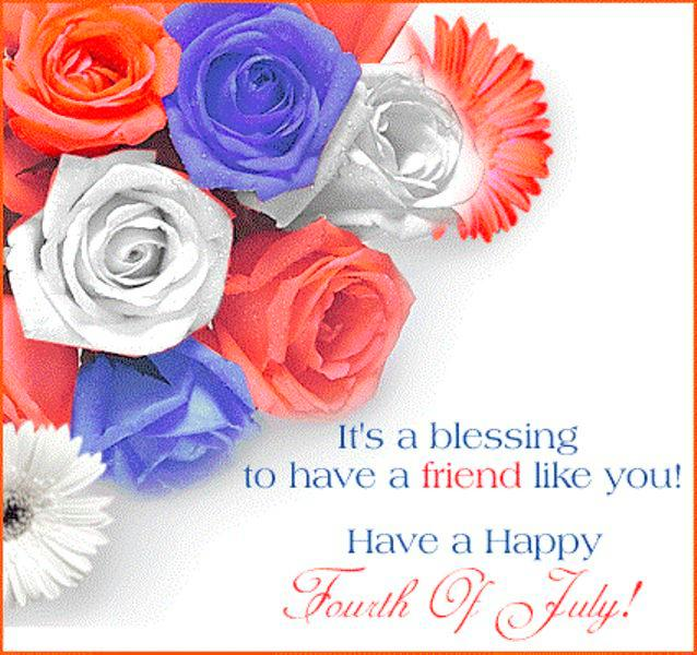 4th of July Greetings For Friends