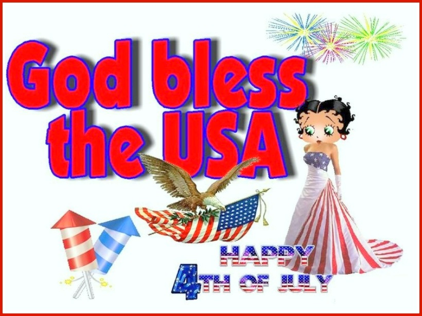 4th of July Greetings God Bless USA