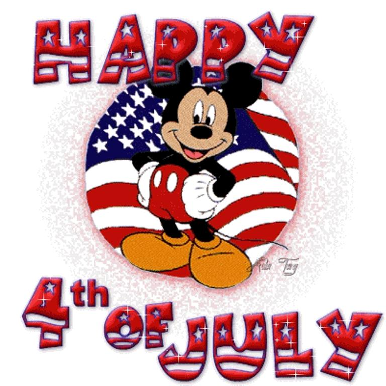 4th of July Mickey Mouse Wallpaper