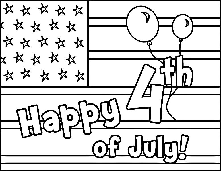 4th of July Pictures To Print And Color