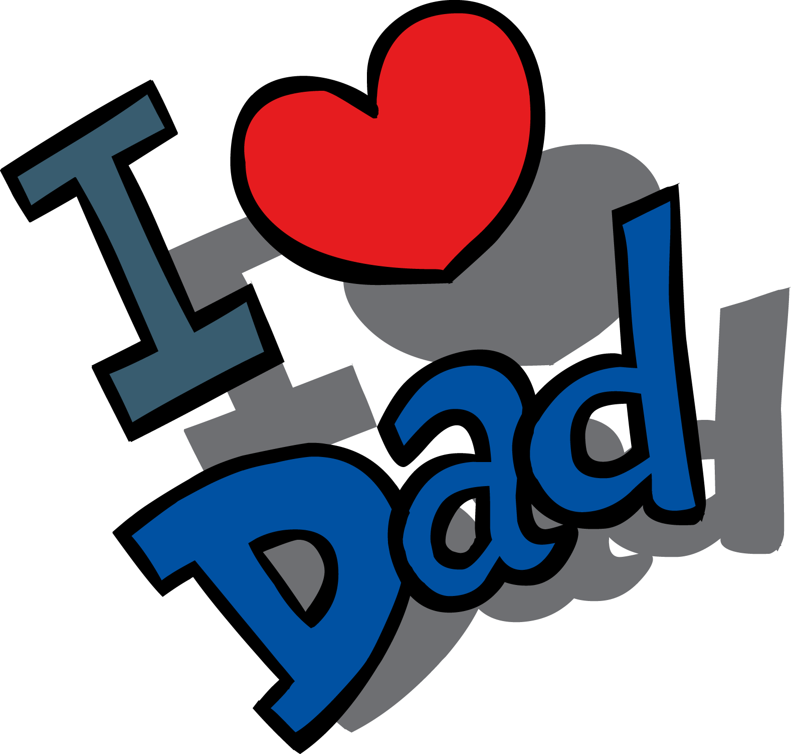 Fathers Day Clipart Text