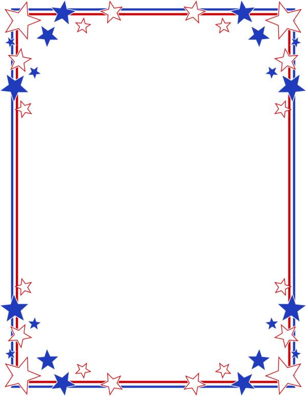 Fourth of July Border Clip Art