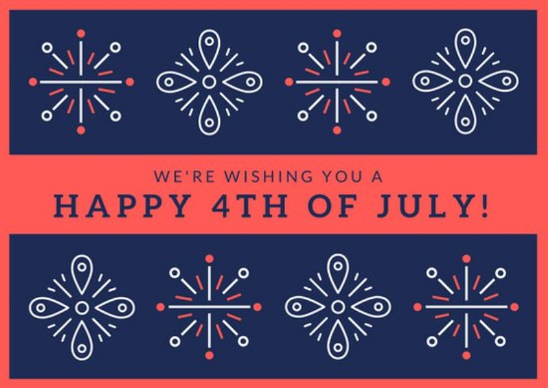 Fourth of July Card Templates