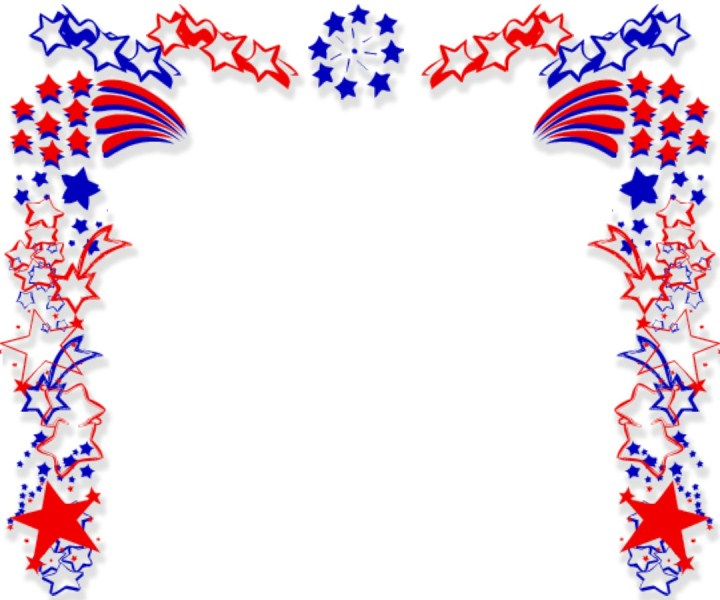 Fourth of July Clip Art Borders