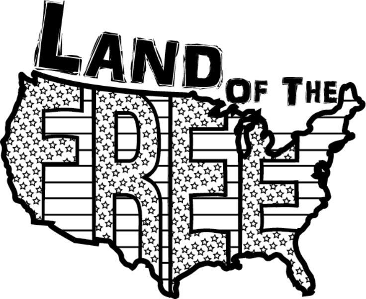 Fourth of July Clipart Black and White