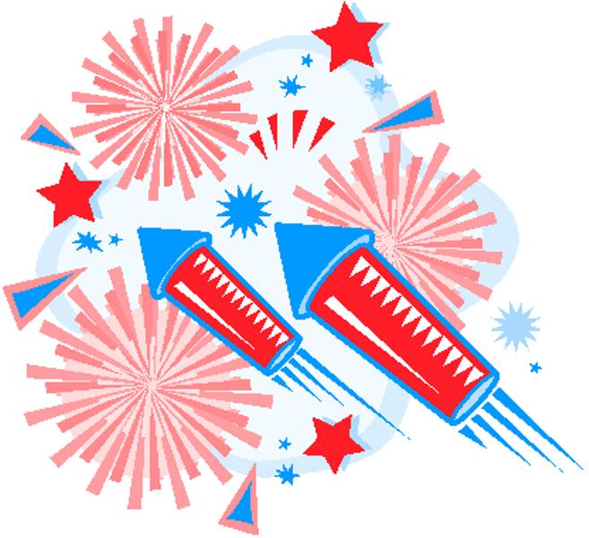 Fourth of July Fireworks Clip Art