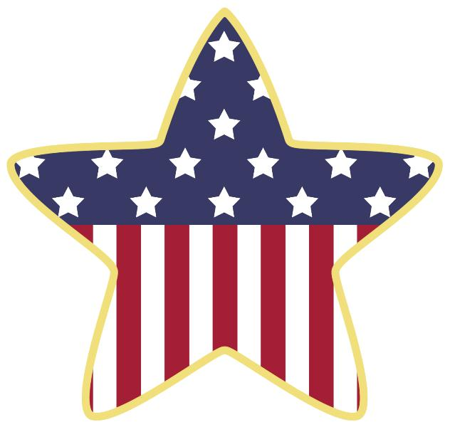 Fourth of July Stars Clip Art