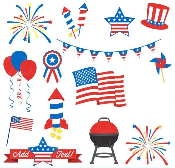Funny Happy 4th of July Clip Art
