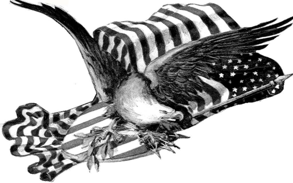 Happy Fourth of July Clipart Black and White