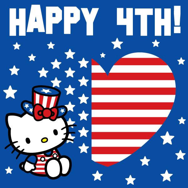 Hello Kitty Fourth of July Wallpaper