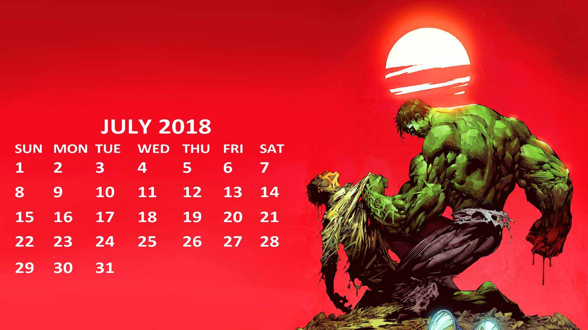 Hulk July 2018 Desktop Wallpaper