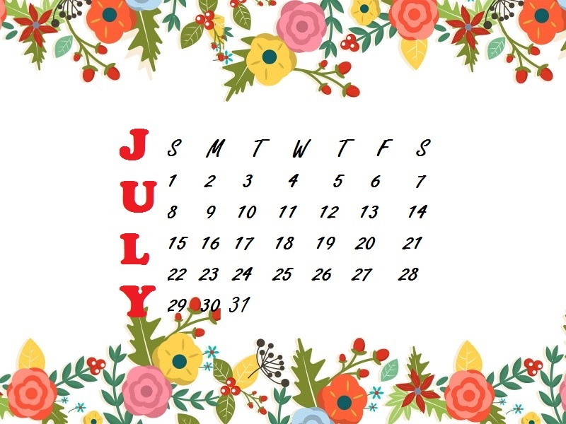 July 2018 Flower Desktop Wallpaper