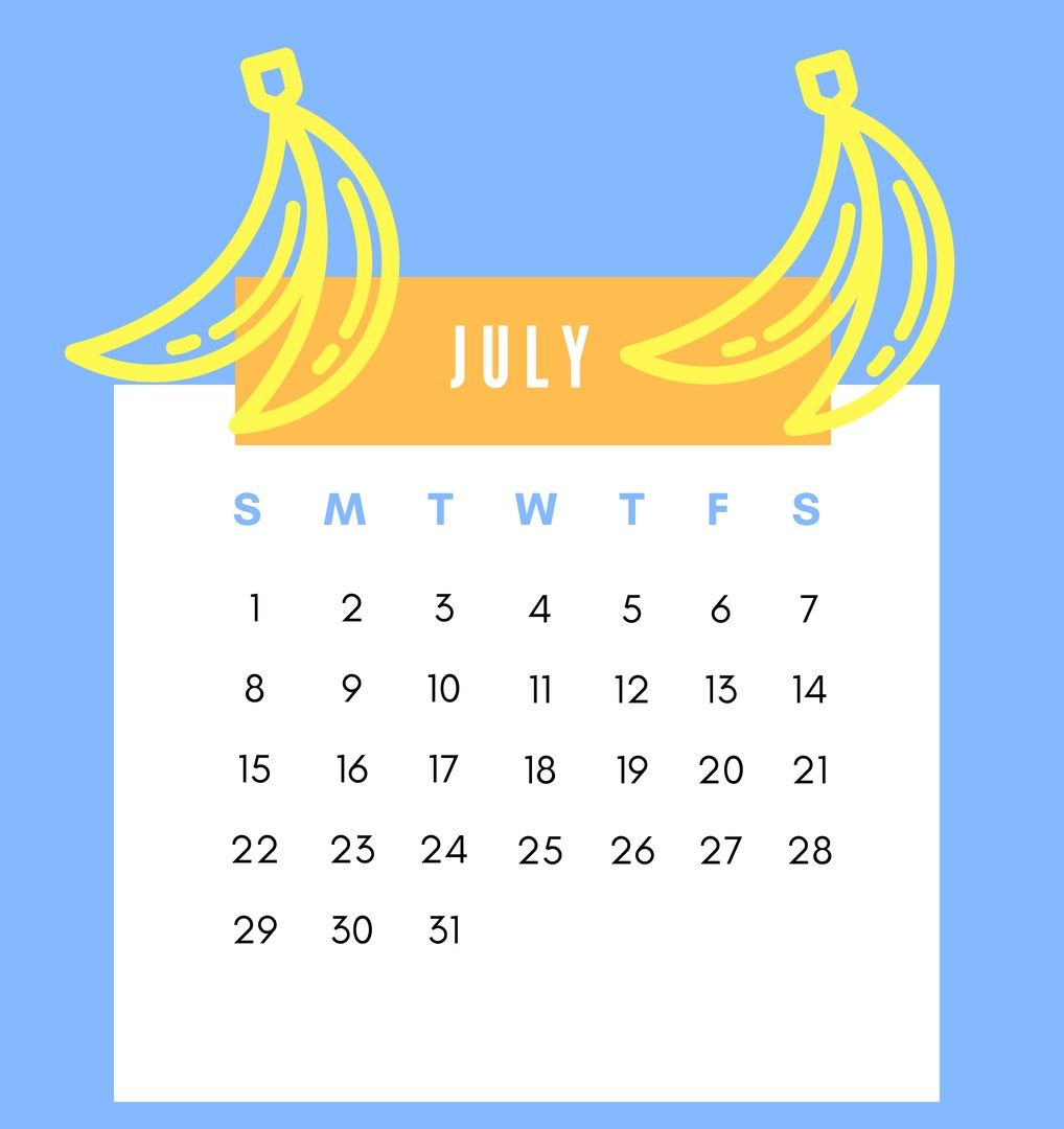 July 2018 iPhone Calendar