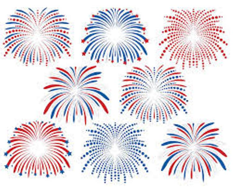 July 4th Fireworks Clipart