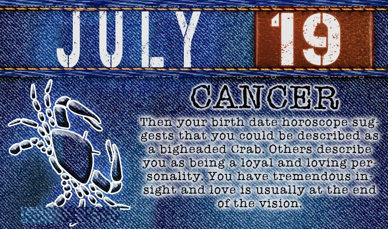 July Birth Sign Image Saying
