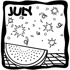 July Coloring Pages Clipart