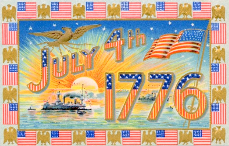 Vintage Happy 4th of July Cards