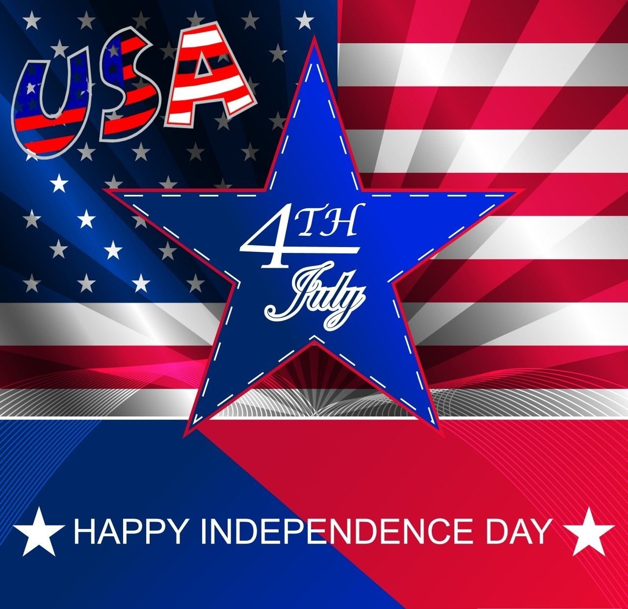 4th July Independence day USA Cards