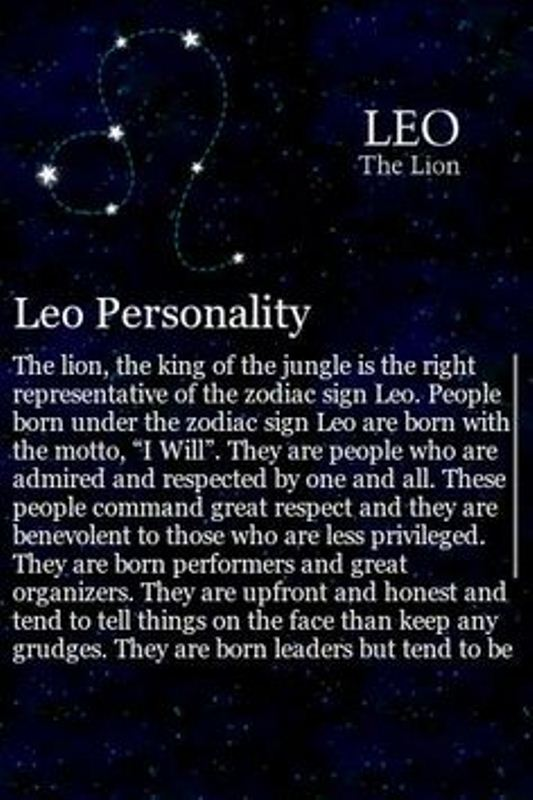 August Birth Sign Leo Personality