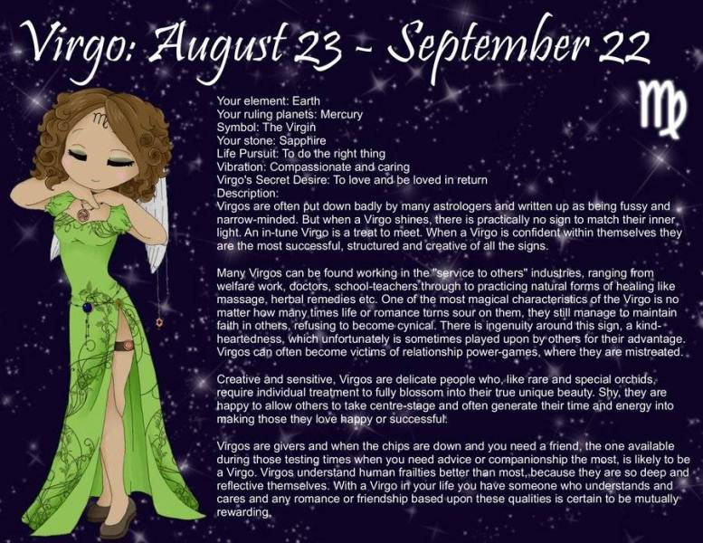 August Birth Sign Virgo Horoscope