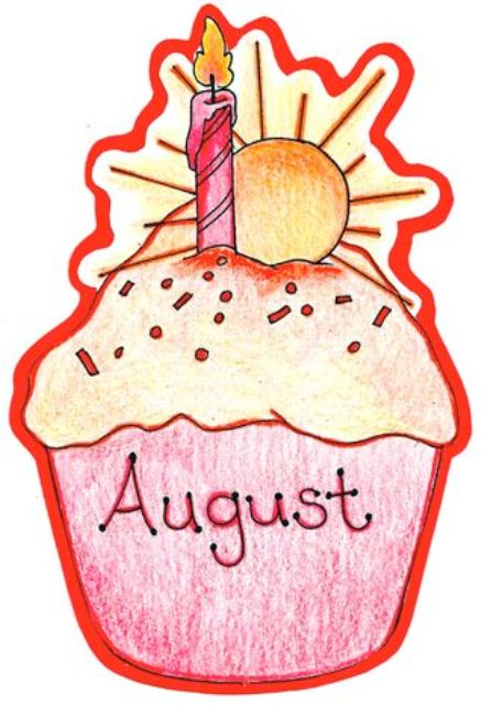August Birthday Clipart Images