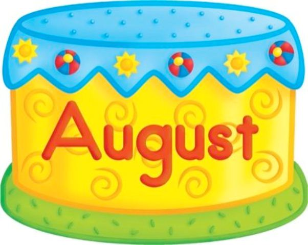 August Birthday Clipart
