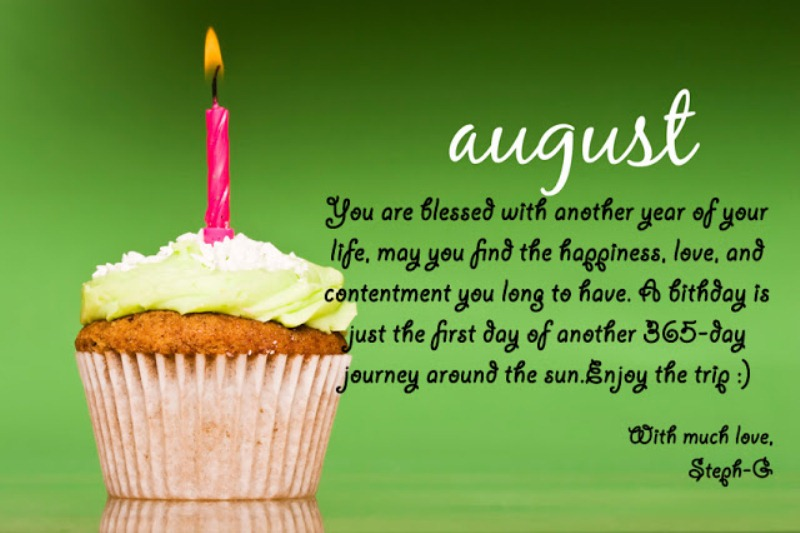 August Birthday Quotes