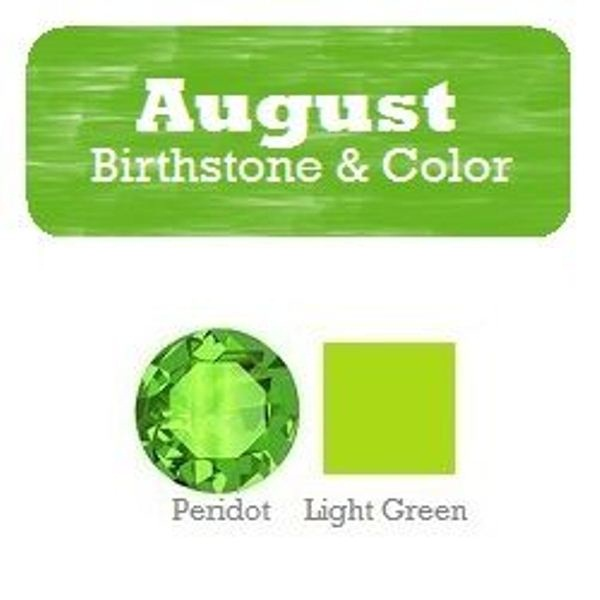 August Birthstone Color and Name