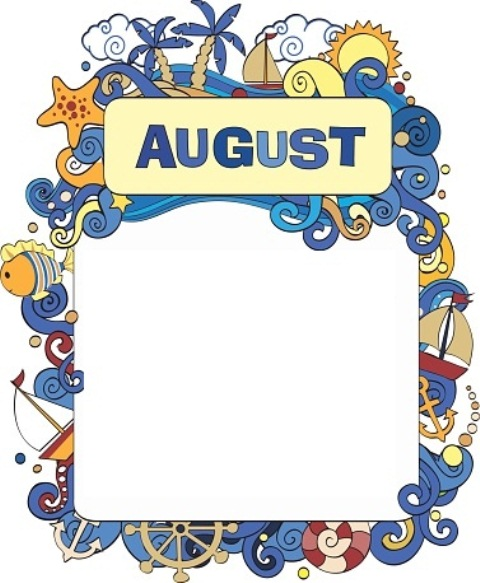 August Border Clipart