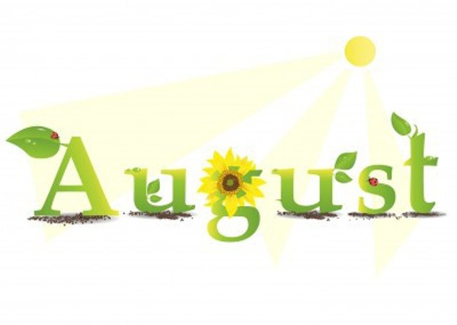 August Clipart Cute