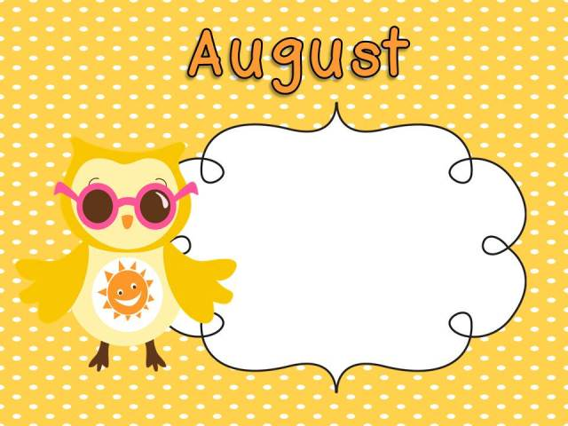 August Clipart Images 2018