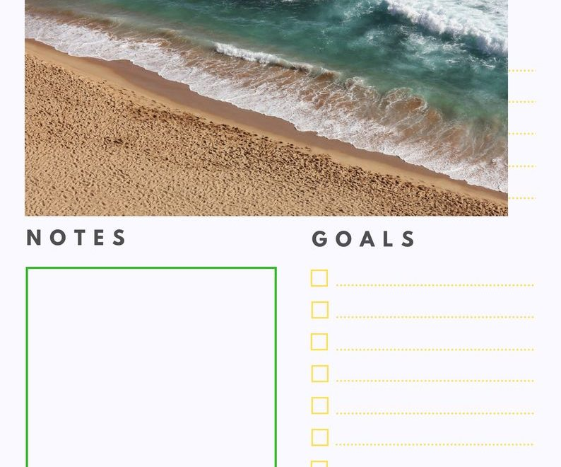 Beautiful August 2018 Daily Planner