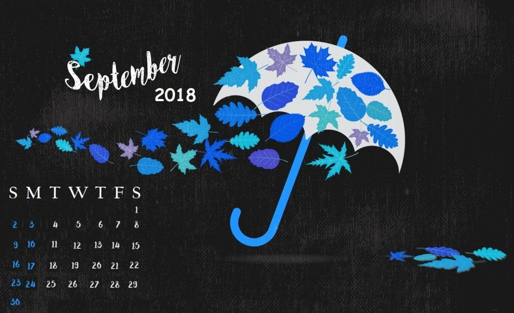 Best September 2018 Calendar Wallpaper