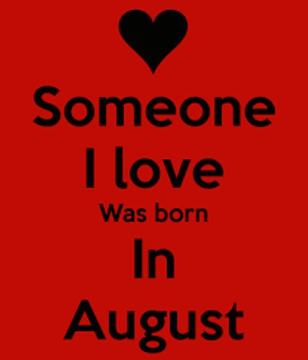 Birthday Quotes For The Month of August