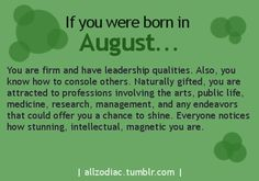 Born In August Month Quotes