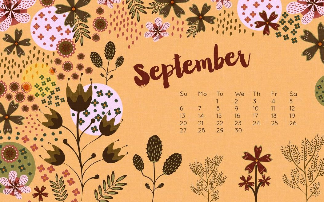 Calendar September 2018 HD Wallpaper