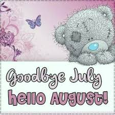 Cute Goodbye July Hello August