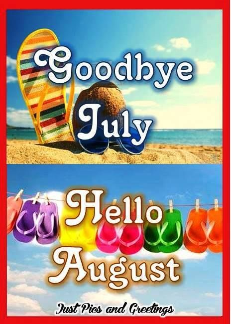 Goodbye July Hello August Cartoon Images