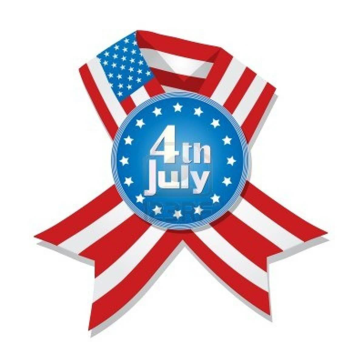 Happy 4th July Ribbon Wishes