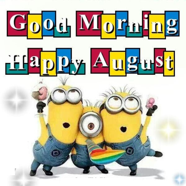 Happy August Cartoon Pictures