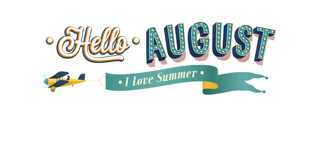 Hello August Clipart Images