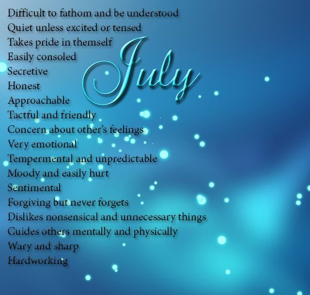 July Born Quotes and Meaning