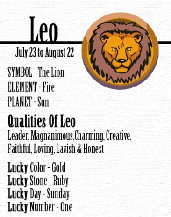 Leo August Month Birth Sign