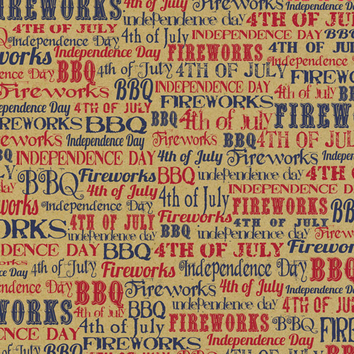 4th of July Words on Craft