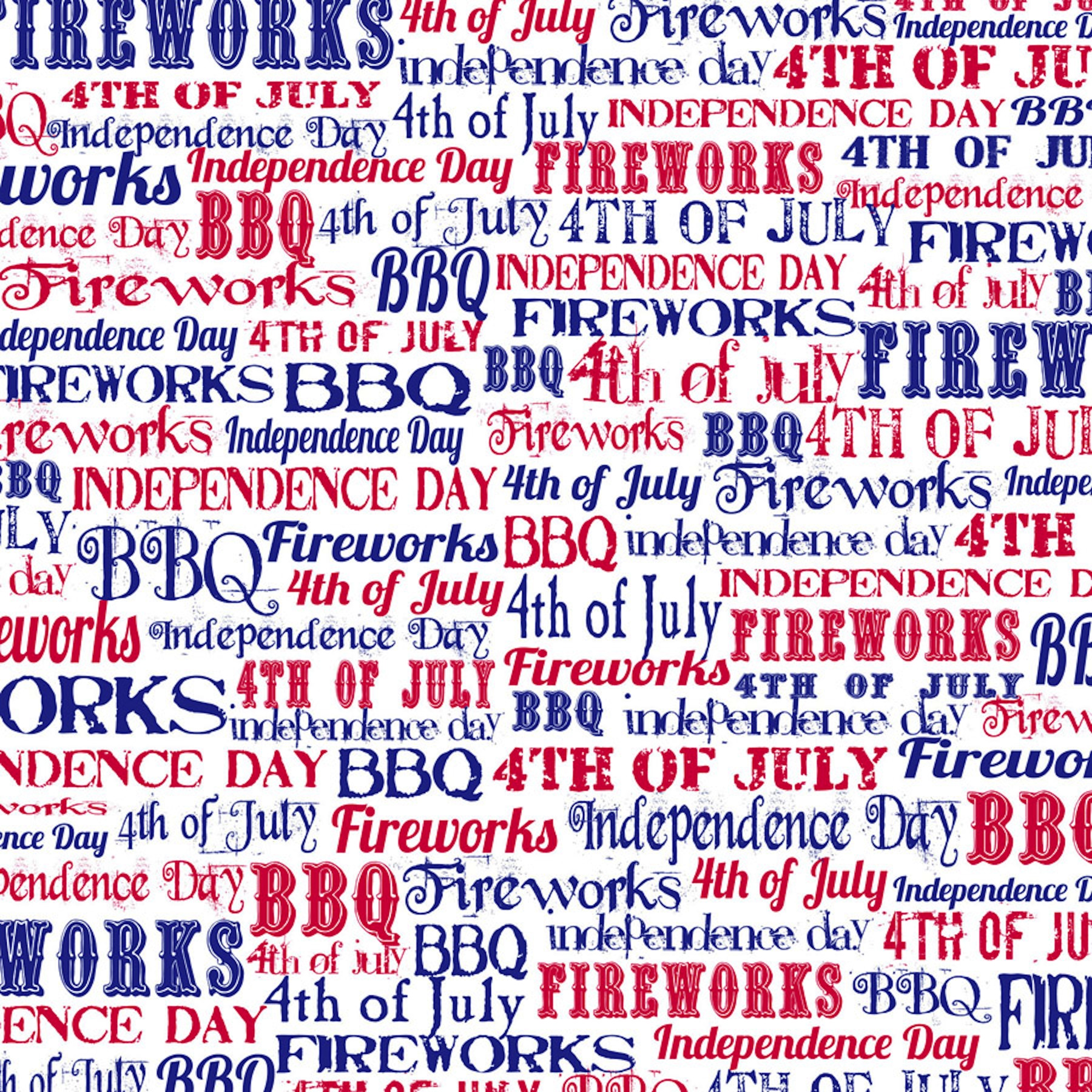 Save 4th of July Words