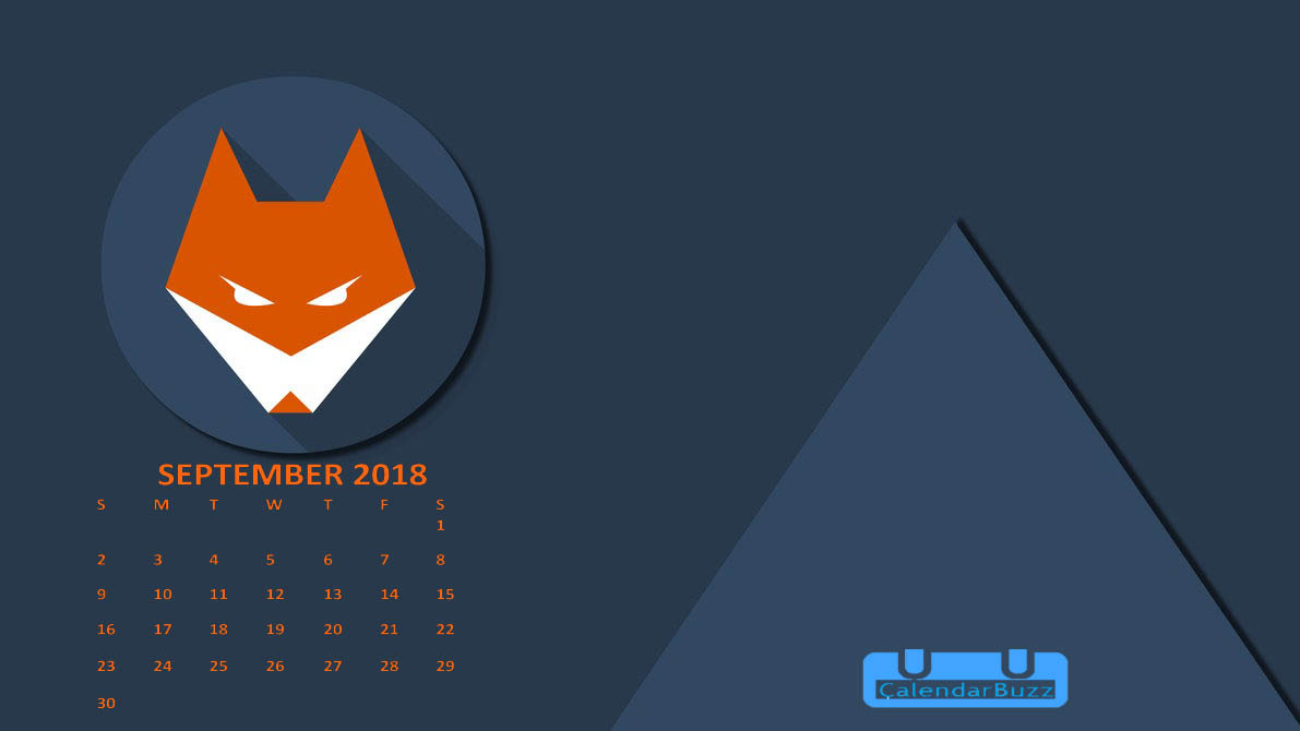 September 2018 Calendar HD Wallpaper