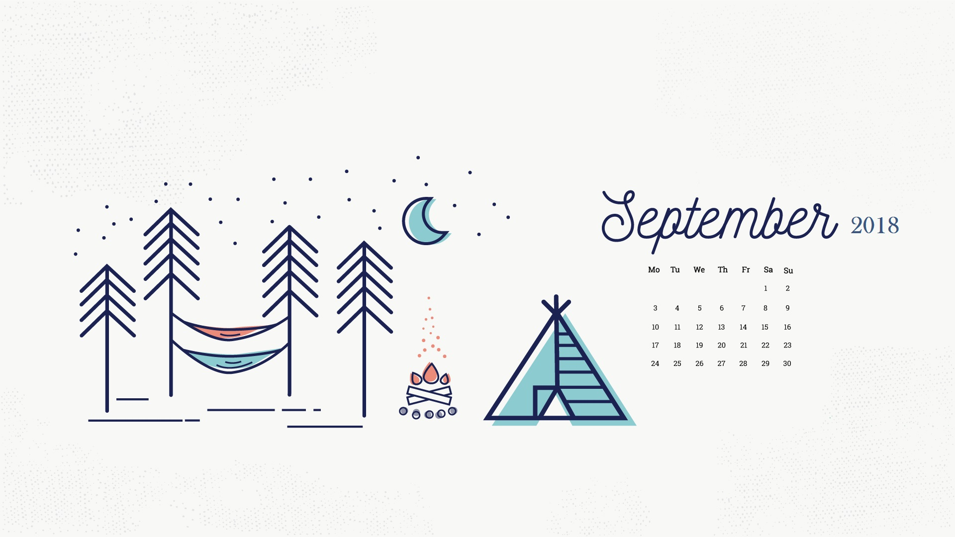 September 2018 Desktop Calendar