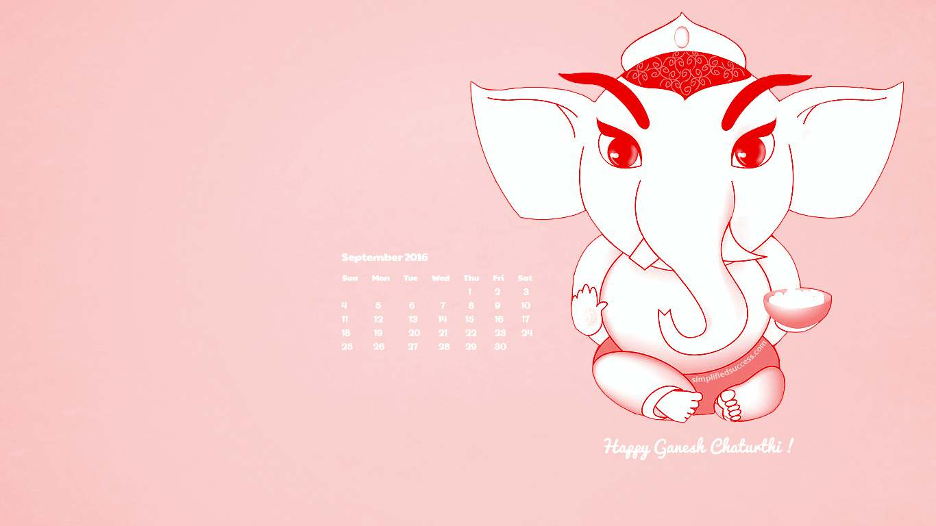 September 2018 Ganesha Wallpaper