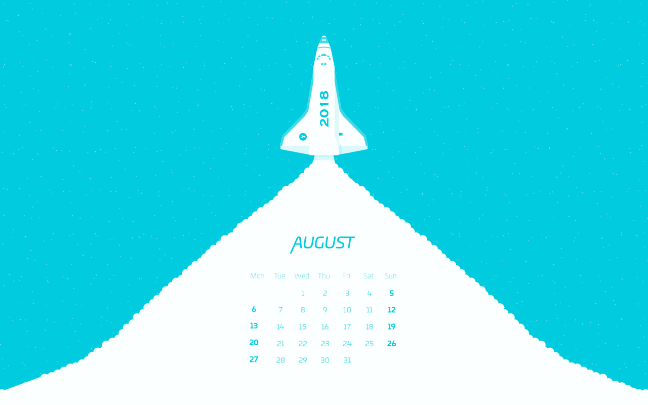 Unique August 2018 Calendar Wallpaper