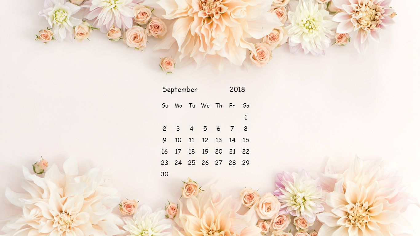 Unique September Month Flower Calendar